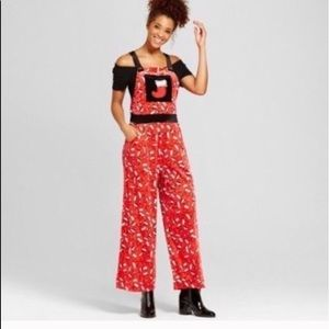 Ugly Christmas velour Jumpsuit/overalls stockings